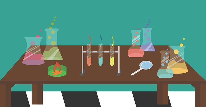 Chemistry set illustration